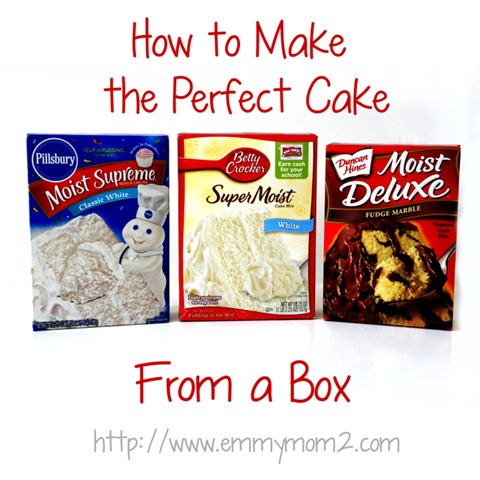 how to make a perfect cake from a box mix