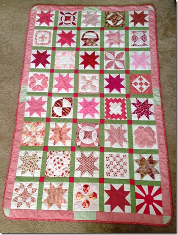 Fia's Single bed quilt