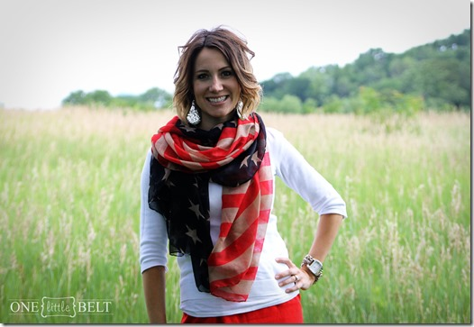 red, white, and blue Sunday style from ONE little MOMMA