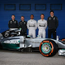 Mercedes W05 F1 car launch pictures