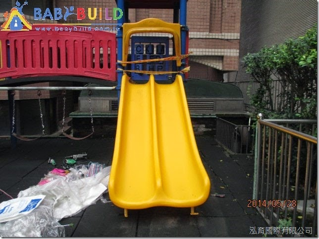 社區溜滑梯破損更新