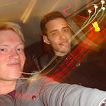 matt & kyle in a cab in Hamilton, Ontario, Canada