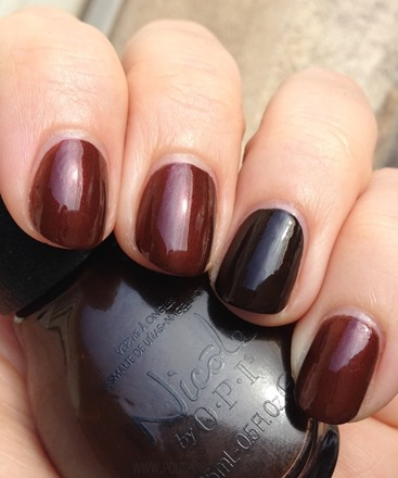 Nicole by OPI Better After Dark with Promises in the Dark on Ring Finger