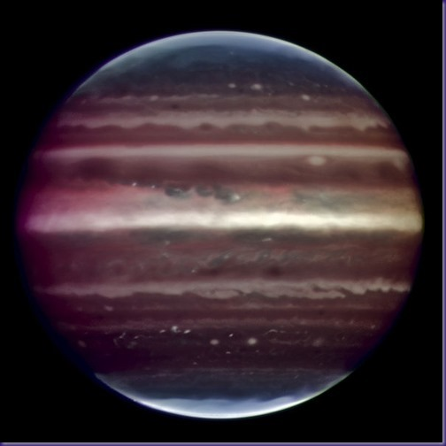 Jupiter Infrared image of Jupiter taken by the ESO's Very Large Telescope.