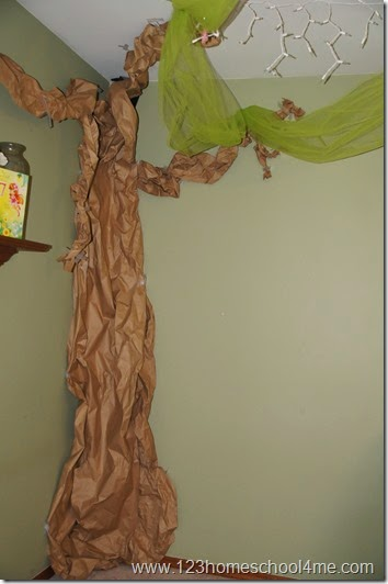 butcher paper tinker bell decorations