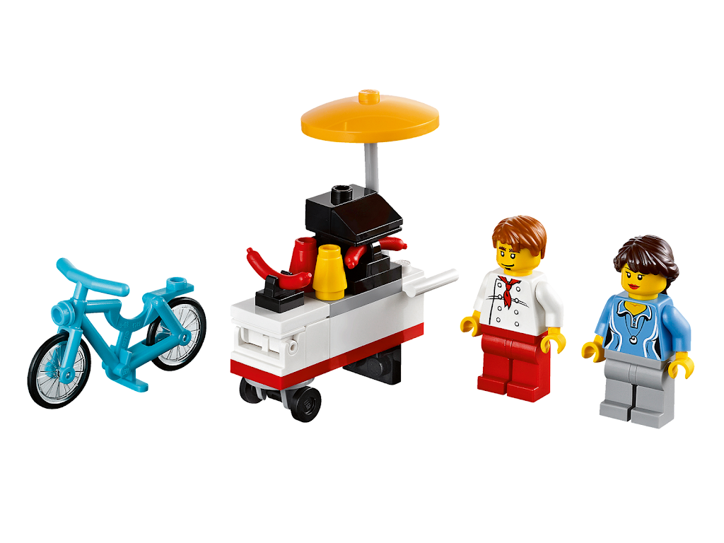 Lego Toy Food : Bricker construction toy by lego hot dog stand