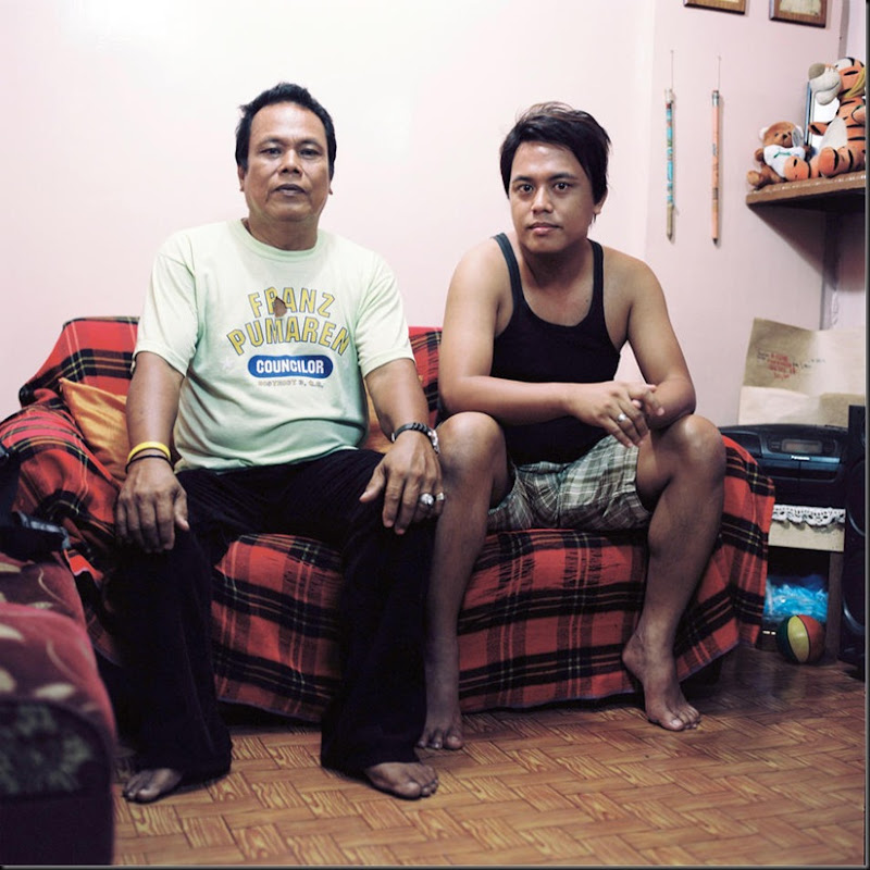 Portrait of a father and son living in Daangtubo, a small community residing on a strip of land owned by the government. After more than sixty years of settling infomally, residents are now threatened with eviction after the government plans to reclaim the area.