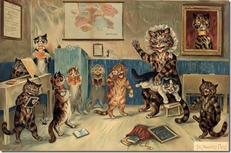 Louis Wain cat classroom