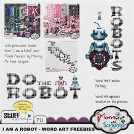 Mommy Me Time Scrapper - I am a Robot - Do the Robot Word Art Preview