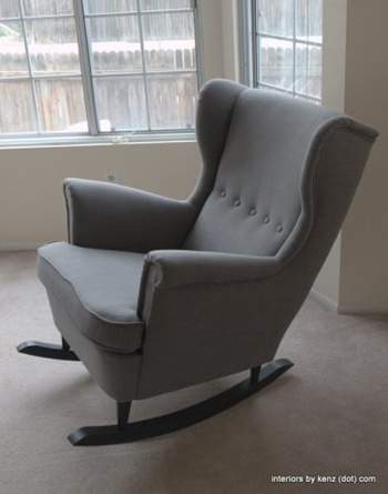 Wingback Rocker {Interiors by Kenz}