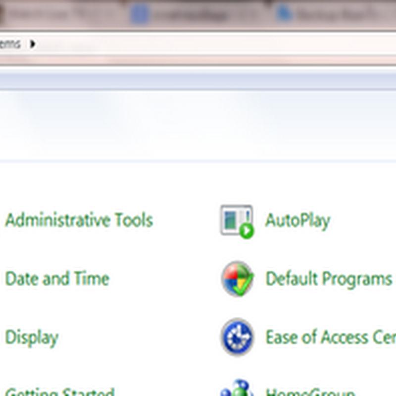 การ Backup และ Restore ใน Windows 7