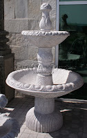 2-Tier Egg-Dart Self Contained Fountain, Wild Rose
