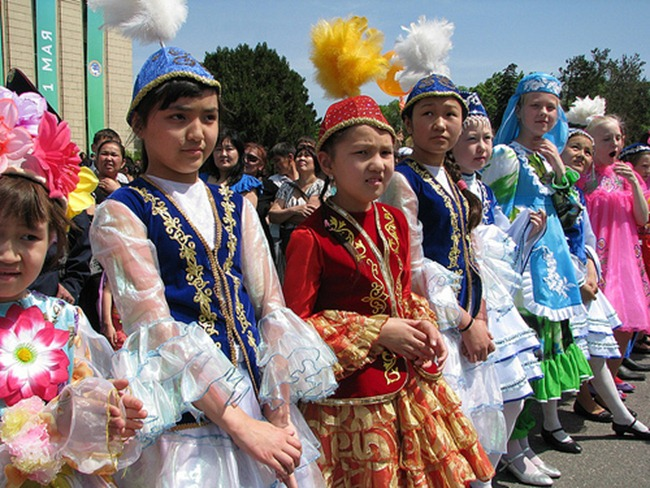 kazakh children