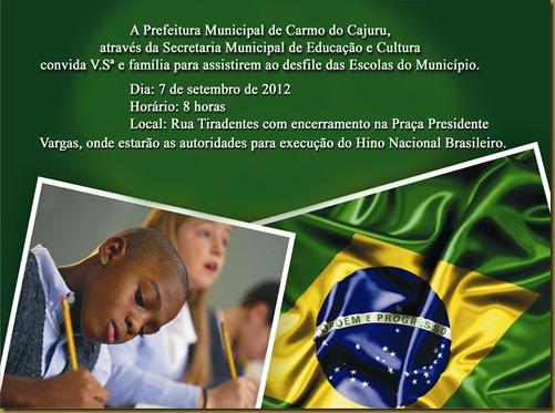 Convite 7 de setembro 2012 cópia
