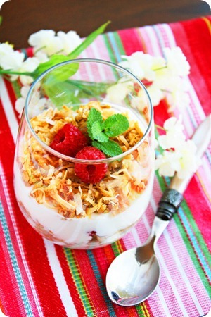 Coconut Granola Parfait with Fresh Fruit