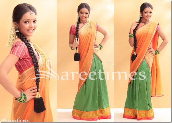 Nithya_Shetty_Half_Saree