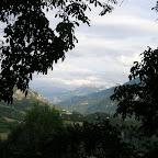 La haute vallée de l'Ubaye vue de chez Monique