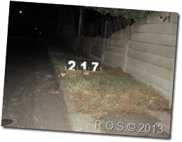 Reflective concrete curb street numbers