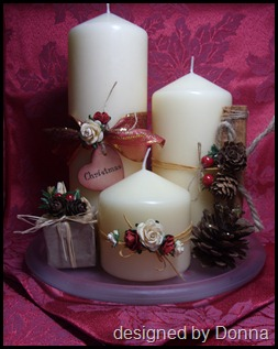 Christmas Candle Table Display 007