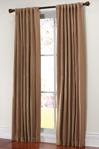 Martha Stewart Living Thermal Tweed Drapery Panel (homedepot.com)