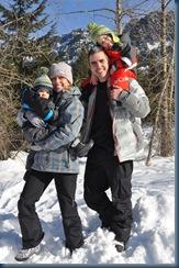 family pic sledding