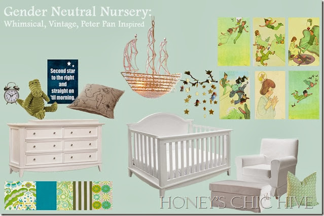Baby room blue green teal whimsical