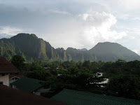 Vang Vieng at Sunset