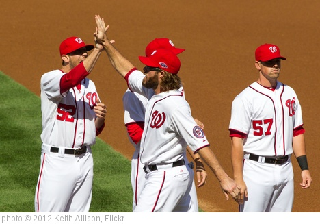 'Ryan Mattheus, Jayson Werth' photo (c) 2012, Keith Allison - license: http://creativecommons.org/licenses/by-sa/2.0/
