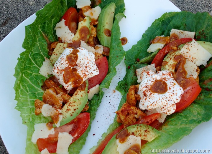 taco chicken lettuce wrap