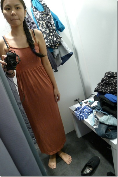 long brown dress
