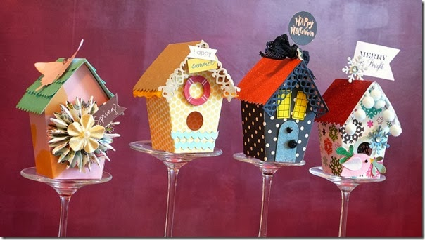 cafe creativo - sizzix big shot - birdhouse - holidays - 4 seasons (2)