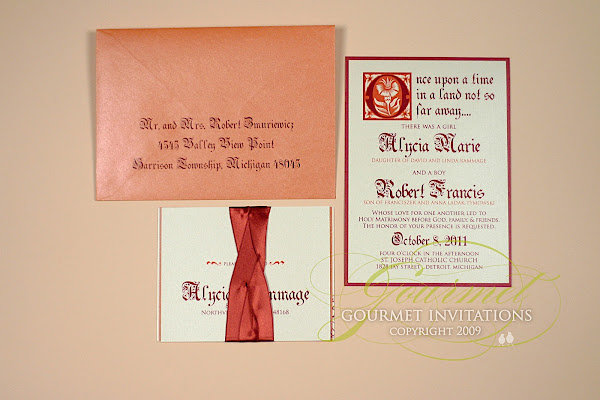 Alycia Robert Cinderella Wedding Invitations Gourmet Invitations