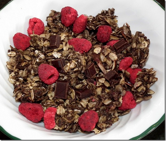 Dark Chocolate Raspberry Granola