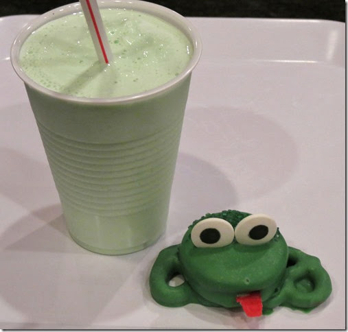 Oreos Pretzel Frogs and Shamrock Shake