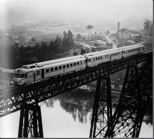 1953 Inauguração do Foguete na Ponte D. Maria Pia