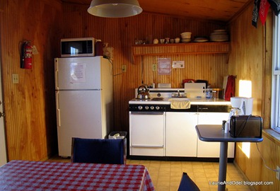 Inside the camp kitchen