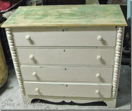 Blue grey dresser BEF