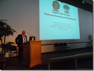 George Ryskamp at the BYU Conference on Family History and Genealogy