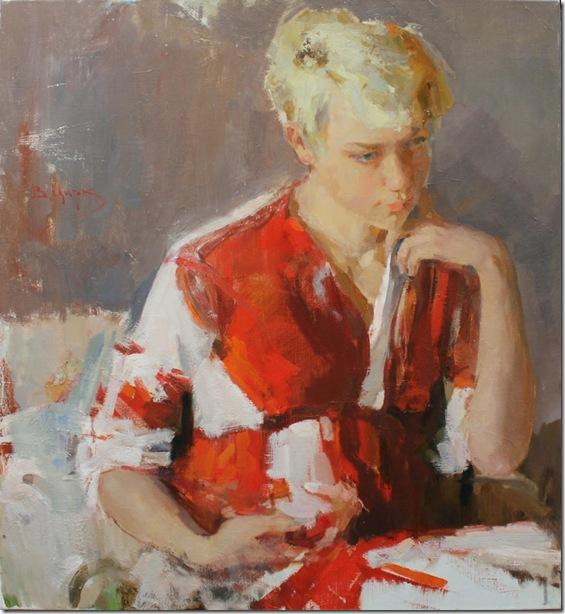 Portrait of my wife, A. Suvorova-Vadim-Suvorov-ENKAUSTIKOS