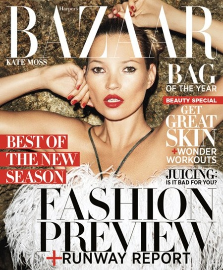 Kate Moss on Harper's Bazaar June-July 2012 cover