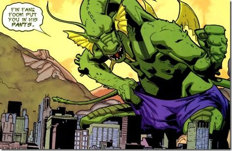 This is Fin Fang Foom inflicting emotional stress.