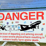 Maho Beach:  These Signs Are Not A Joke - Philipsburg, St. Maarten