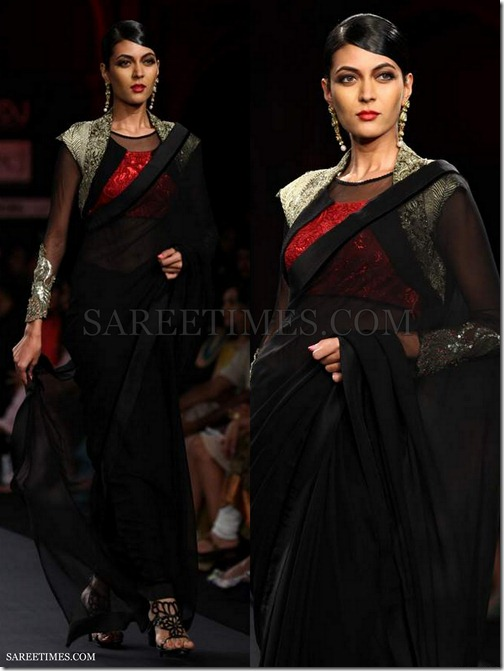 Varun_Bahl_Black_Saree