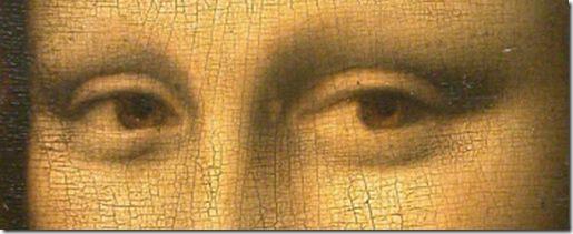 olhos de Mona Lisa