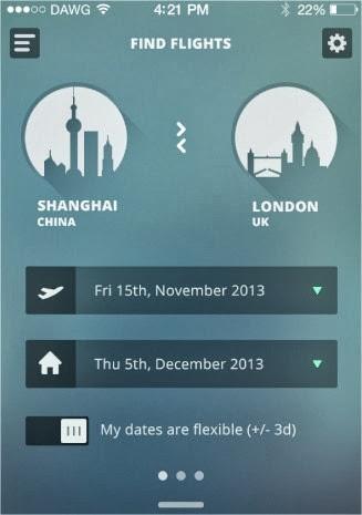 19 increíbles interfaces de aplicaciones móviles hechas para iOS 7 16