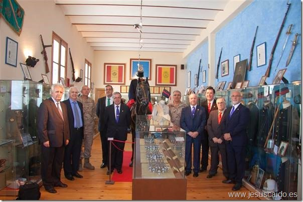 """Visita a la Sala Histórica del Regimiento """"Asturias"""" 31 (Foto BRIAC XII)"""