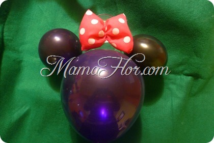 Como hacer un globo de la Minnie Mouse