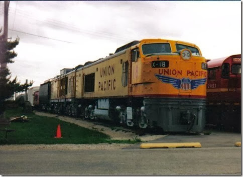 Union Pacific Gas Turbine #18 at the Illinois Railway Museum on May 23, 2004