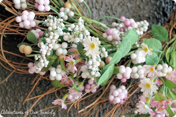spring mantle spring wreath
