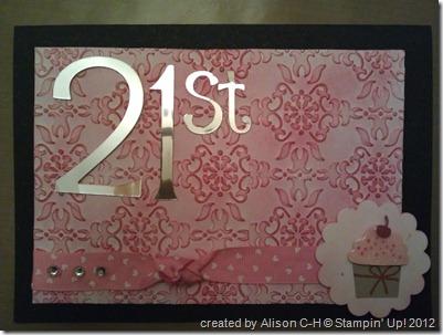 amy 21st cupcake 1